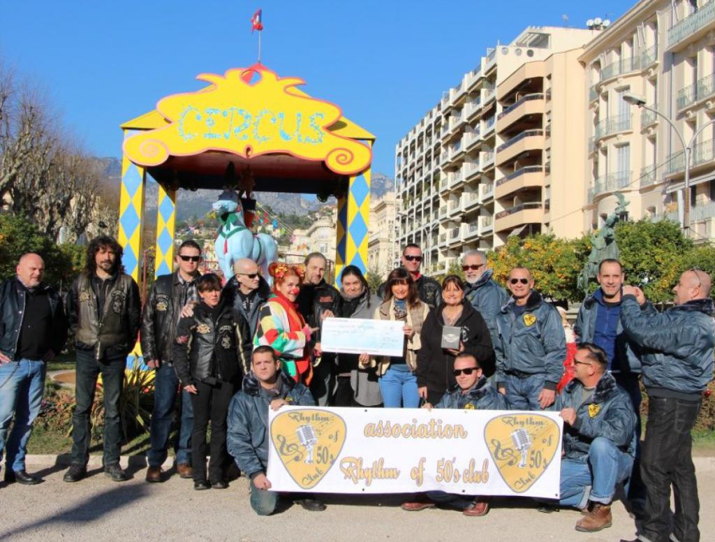 Avec la participation des REBEL RIDERS de Monaco, Don à l'association LA RONDE DES CLOWNS le 4 janvier 2015 : 700 euros