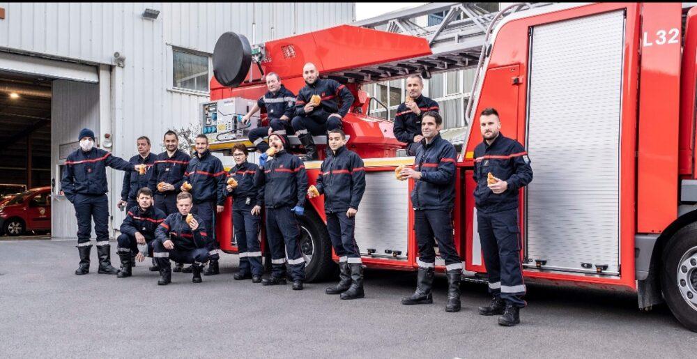 Soutien au personnel soignant, commerçants et pompiers de Menton durant la crise sanitaire en 2020